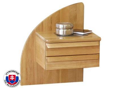 Nočný stolík z masívu - Styler - Petra - ľavý